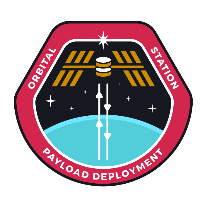 The cyberspace building crew patch for hosters: the space station