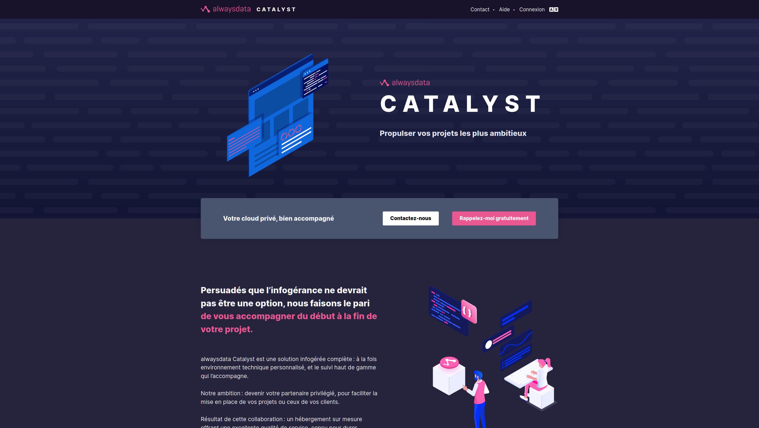Bienvenue dans l'univers de Catalyst !